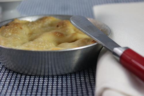 Tartaleta de cebollín y queso de cabra