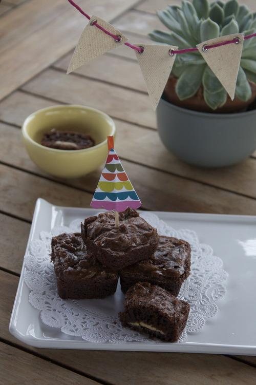 Brownies con chocolate blanco