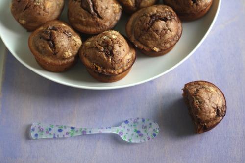 Muffins de nutella y cambur