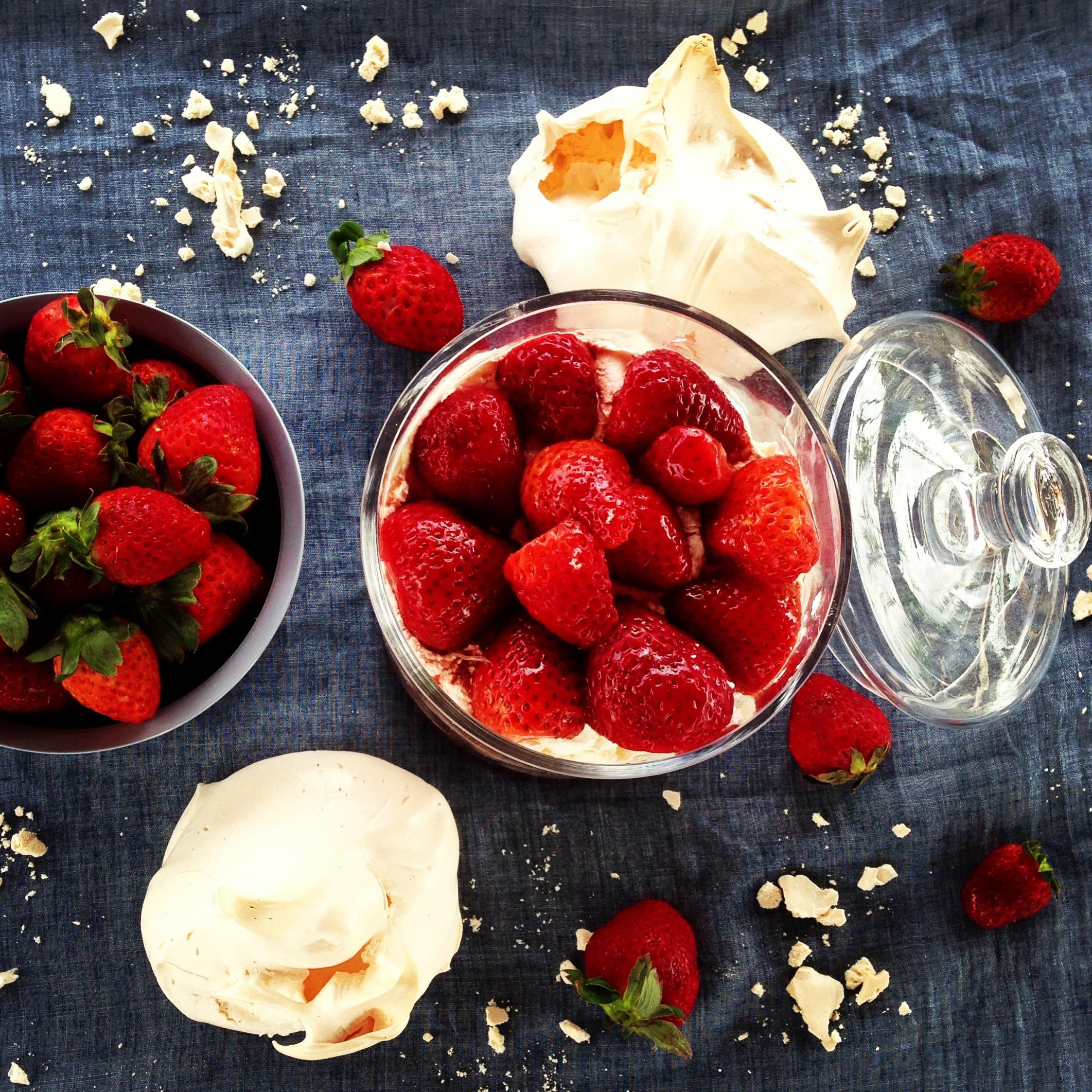 Un delicioso desorden de fresas